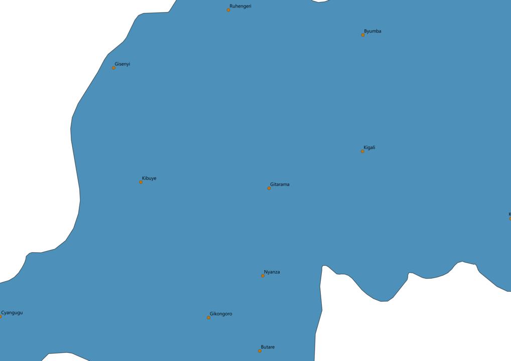 Rwanda Cities Map