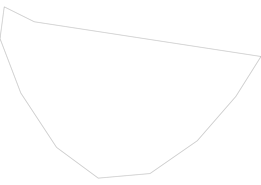 Saint Barthelemy Outline Map