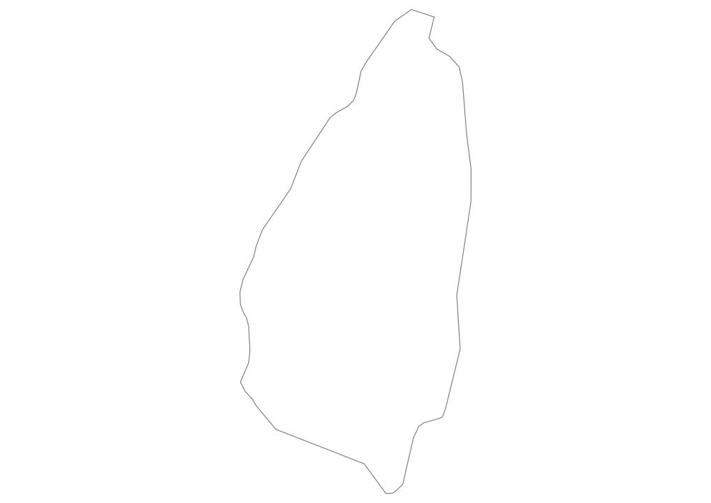 Saint Lucia Outline Map
