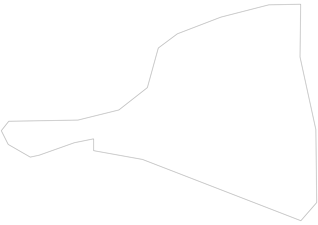 Saint Martin Outline Map
