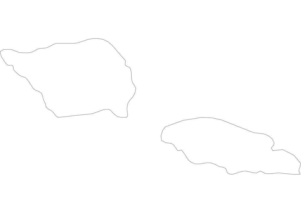 Samoa Outline Map