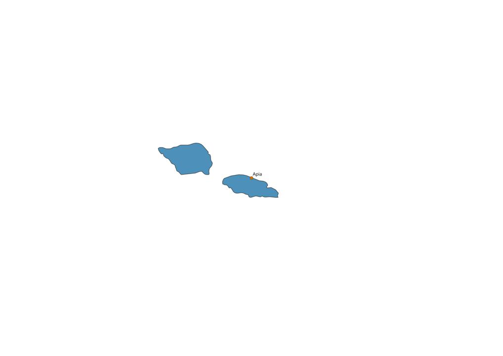 Samoa Cities Map
