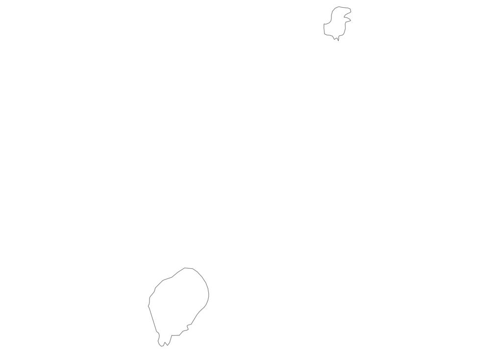 Sao Tome and Principe Outline Map