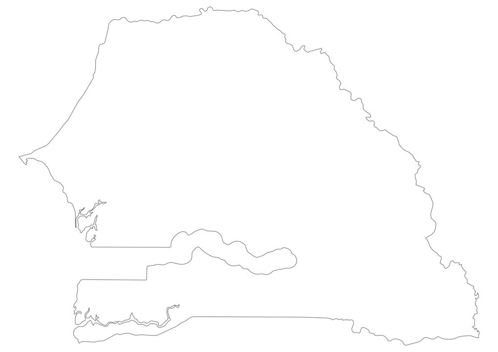 Senegal Outline Map