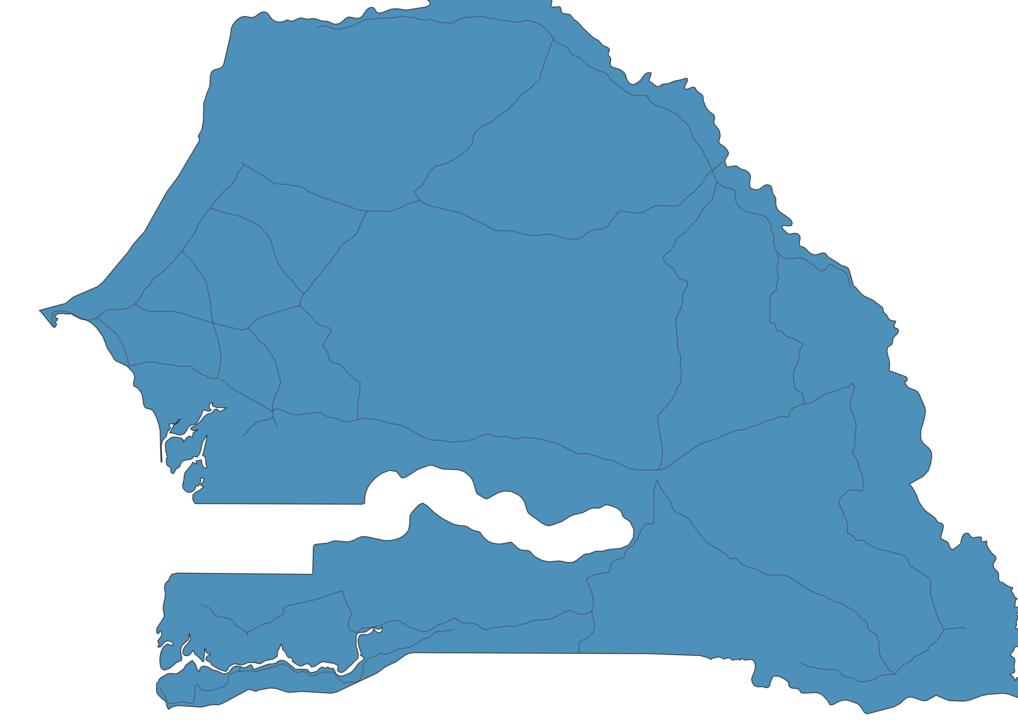 Map of Roads in Senegal