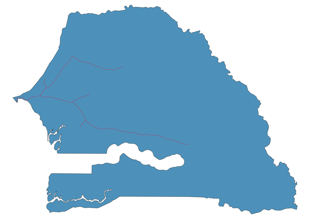 Senegal Railway Map