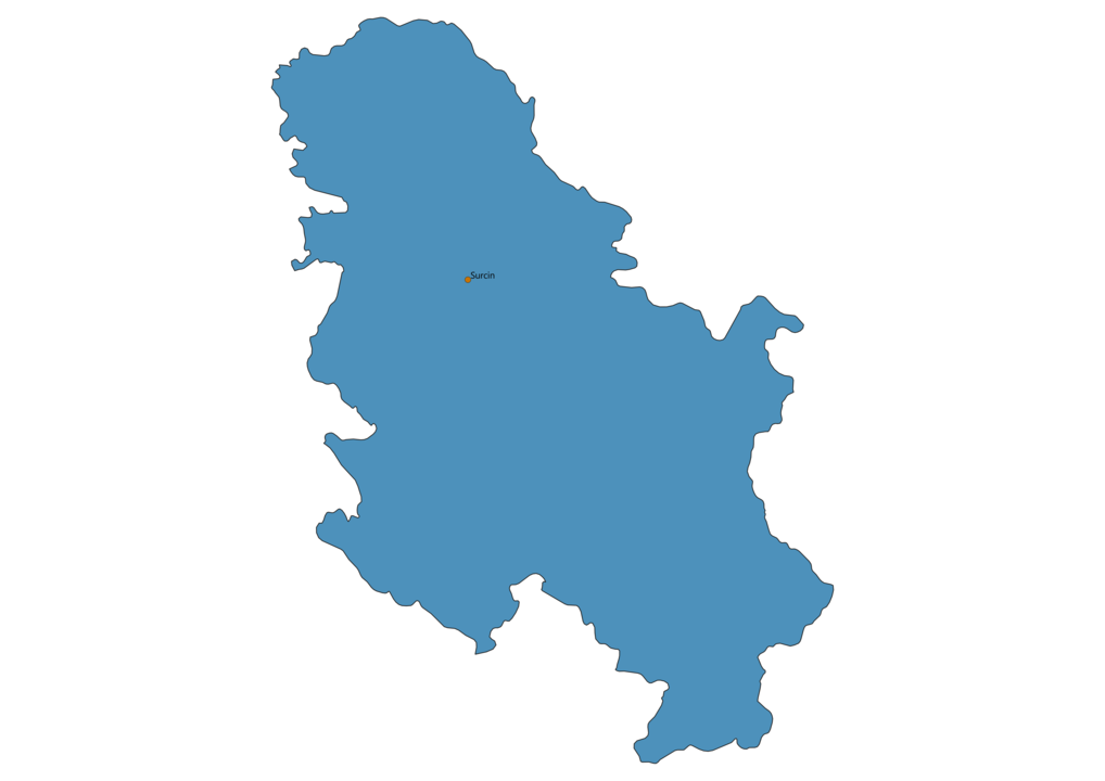 Map of Airports in Serbia