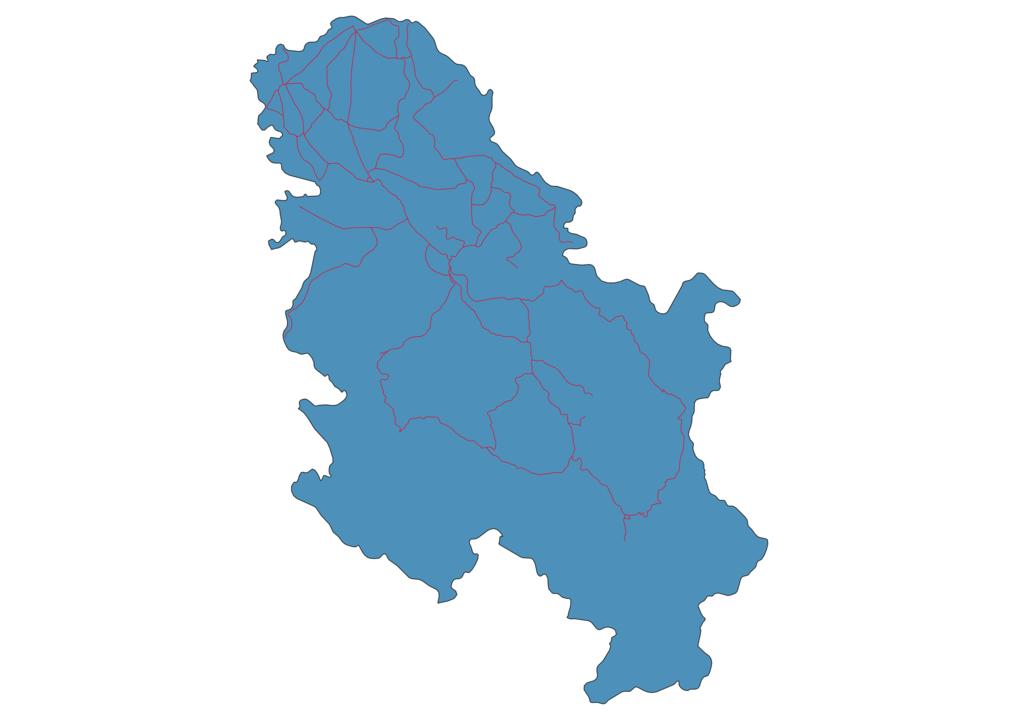 Serbia Railway Map