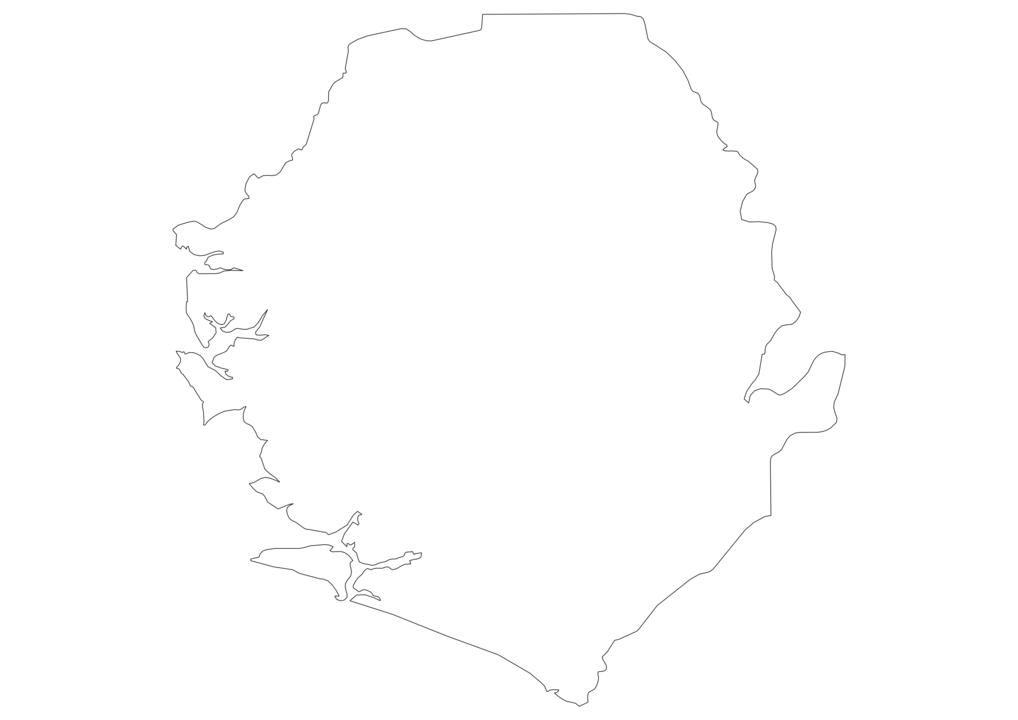 Sierra Leone Outline Map
