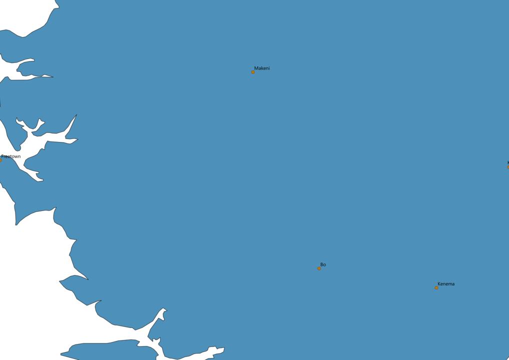 Sierra Leone Cities Map