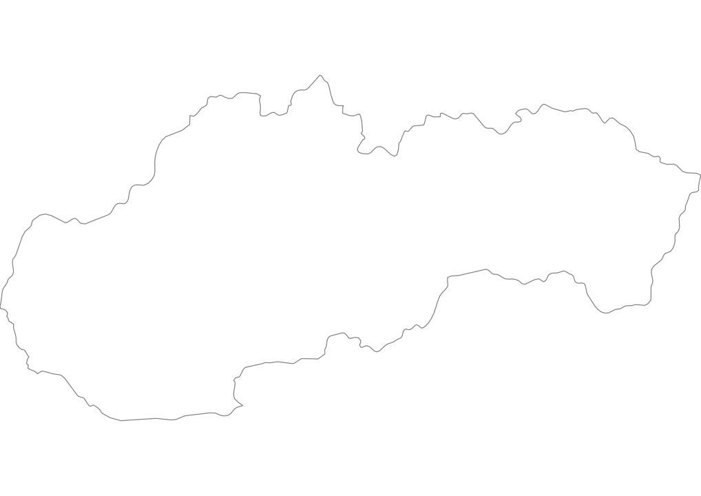 Slovakia Outline Map