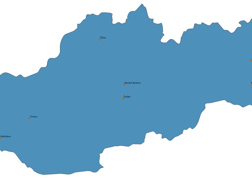 Slovakia Cities Map