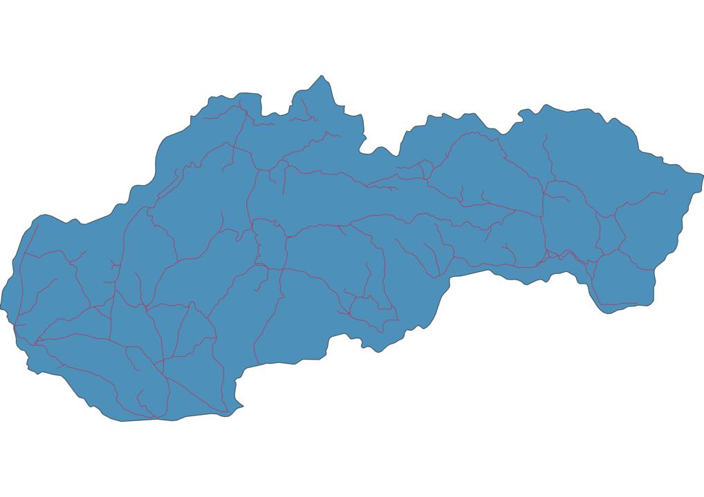 Slovakia Railway Map