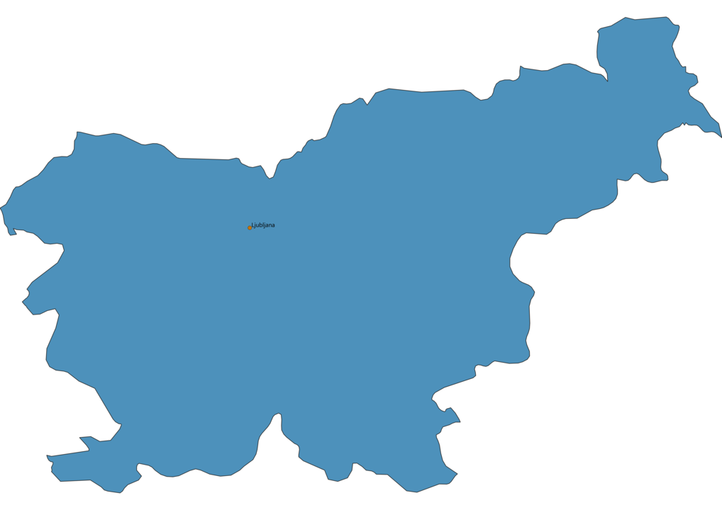 Map of Airports in Slovenia