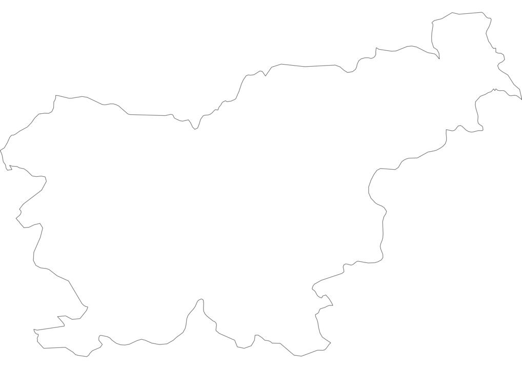 Slovenia Outline Map