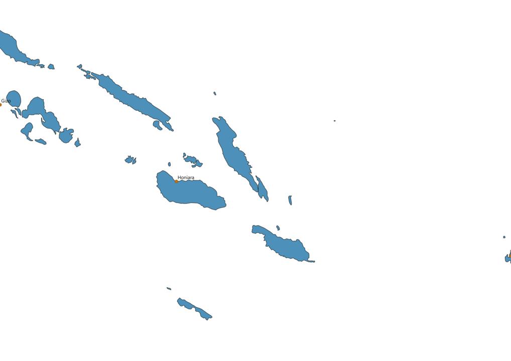 Solomon Islands Cities Map
