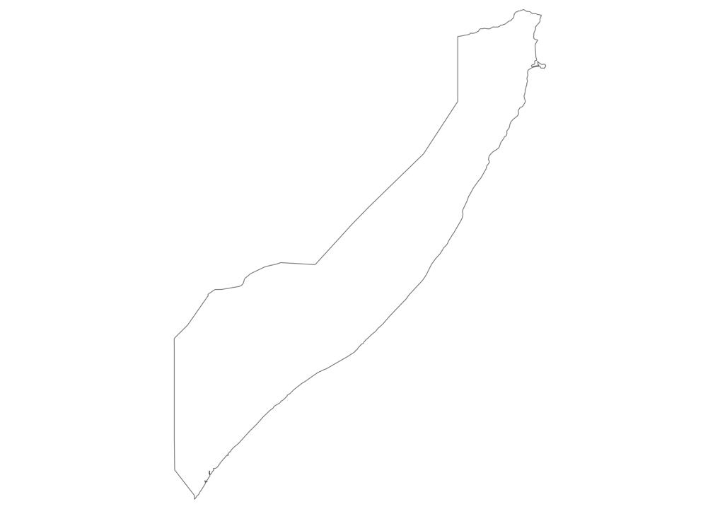 Somalia Outline Map