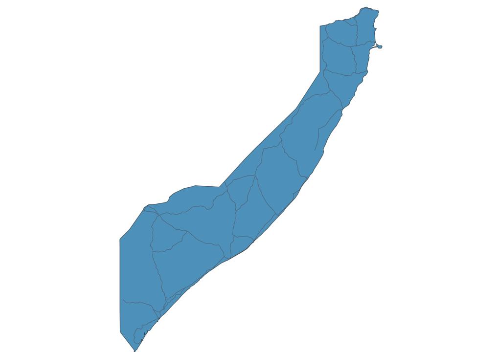 Map of Roads in Somalia