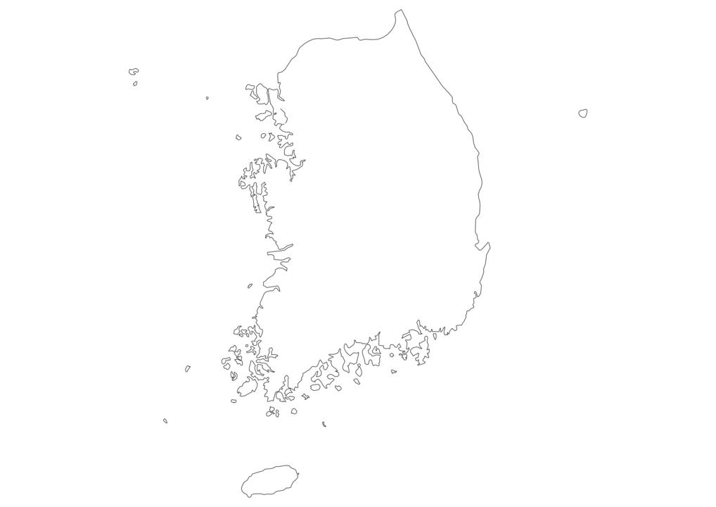 South Korea Outline Map