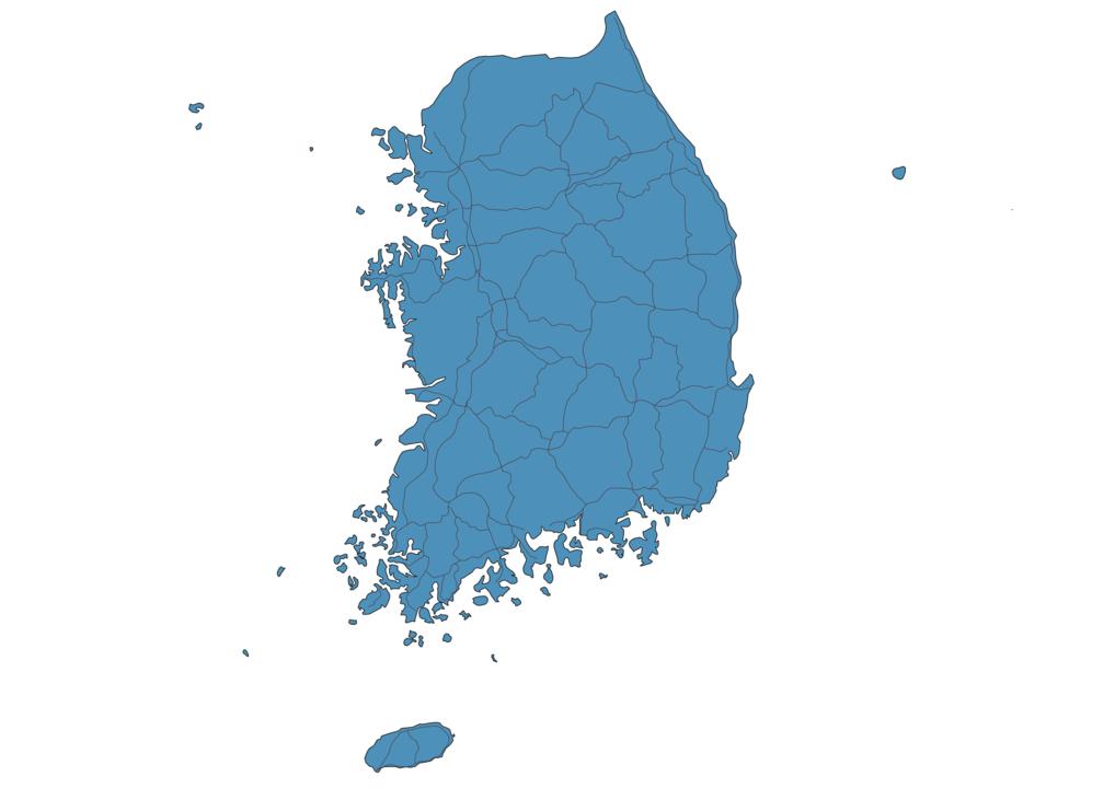 Map of Roads in South Korea