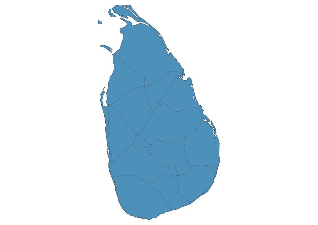 Map of Roads in Sri Lanka