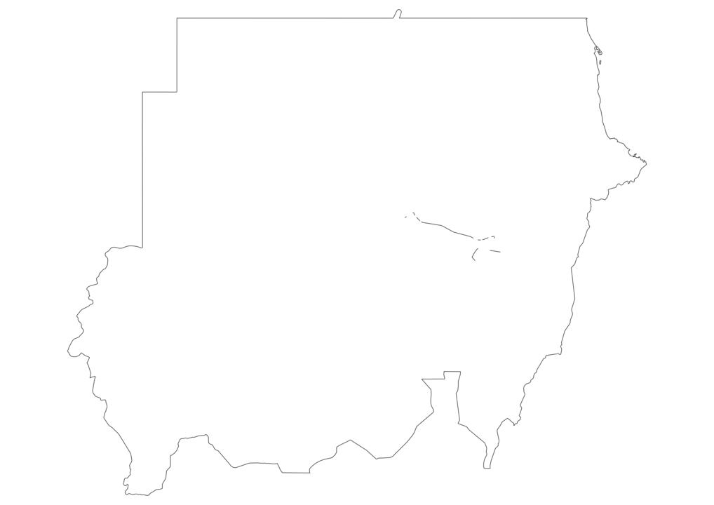 Sudan Outline Map