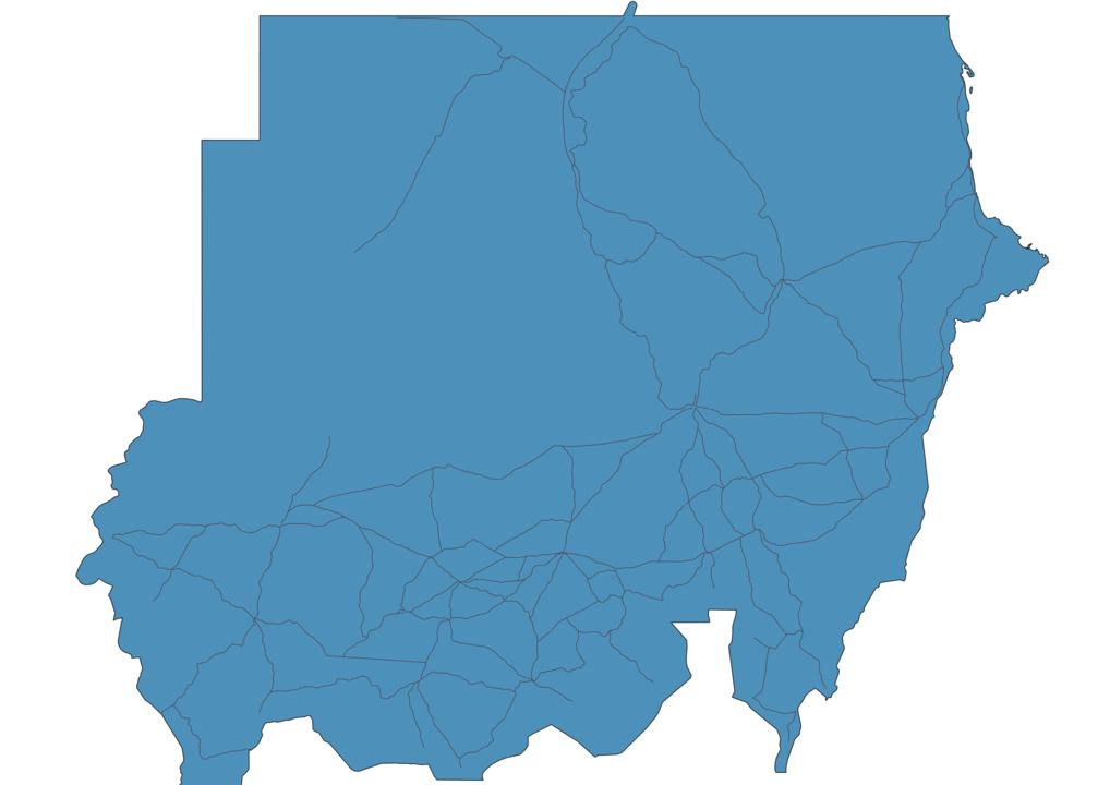 Map of Roads in Sudan