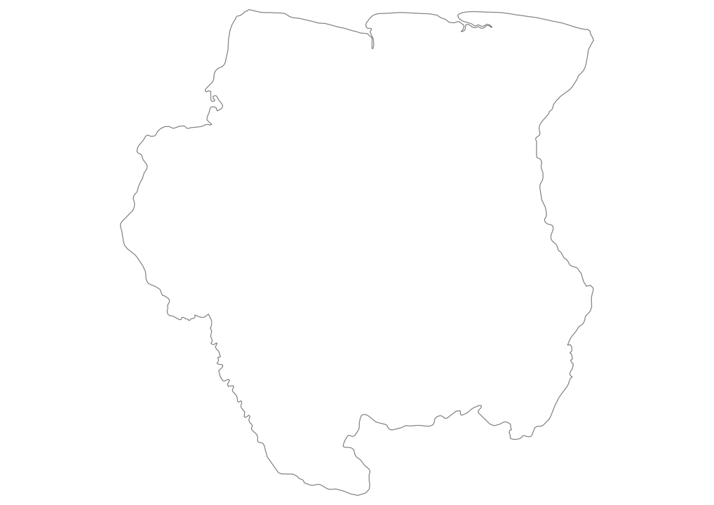 Suriname Outline Map