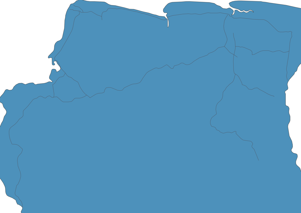 Map of Roads in Suriname