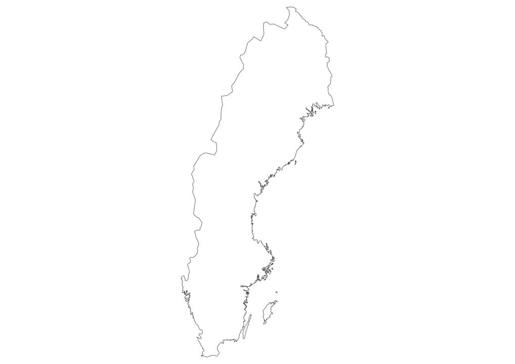 Sweden Outline Map