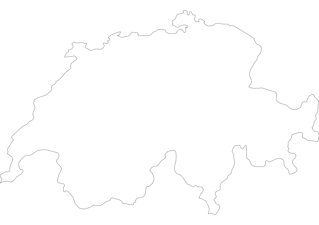 Switzerland Outline Map