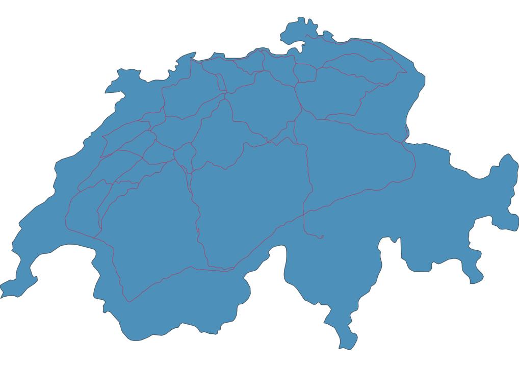 Switzerland Railway Map