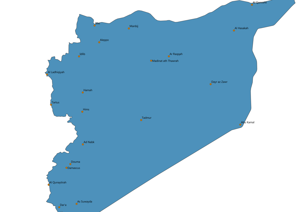 Syria Cities Map