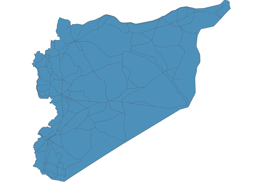 Map of Roads in Syria