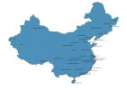 Airports in China Map thumbnail