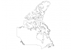 Blank map of Canada thumbnail