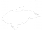 Blank map of Honduras thumbnail