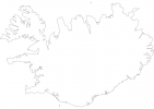 Blank map of Iceland thumbnail