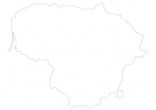 Blank map of Lithuania thumbnail