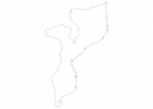 Blank map of Mozambique thumbnail