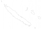 Blank map of New Caledonia thumbnail