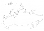 Blank map of Russia thumbnail