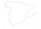 Blank map of Spain thumbnail