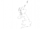 Blank map of United Kingdom thumbnail