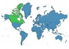 Canada on World Map thumbnail