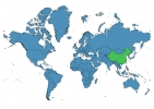 China on World Map thumbnail