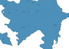 Map of Azerbaijan With Cities thumbnail