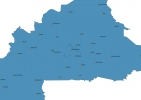 Map of Burkina Faso With Cities thumbnail