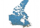 Map of Canada With Cities thumbnail
