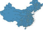 Map of China With Cities thumbnail